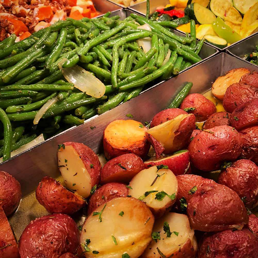 Potatos and green beans