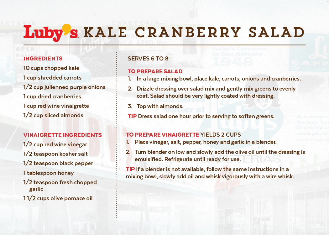 Kale Cranberry Salad Front of Recipe Card